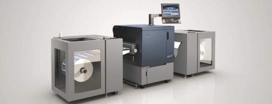 La bizhub PRESS C71cf è entrata nel mercato della stampa industriale
