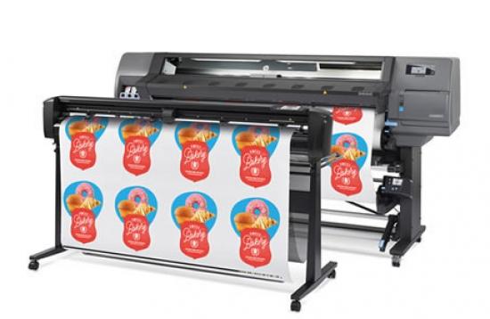 HP Latex 355 stampa e taglio